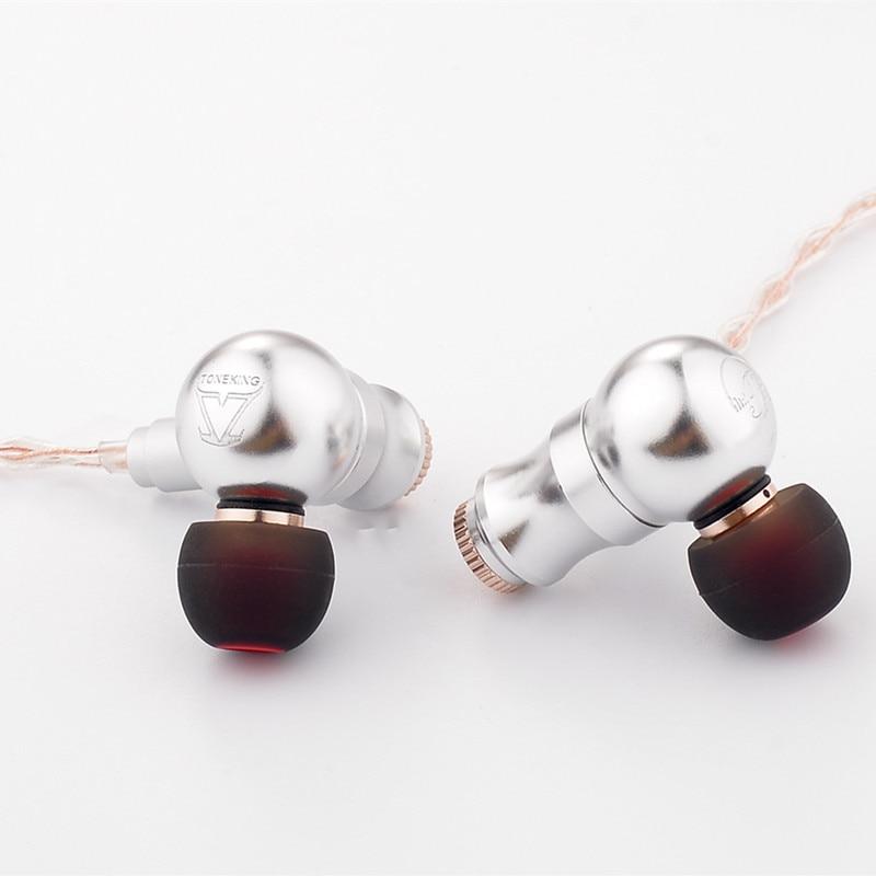 2018 nouveau TONEKING neuf queue dans l'oreille écouteurs en alliage complet écouteurs neuf airs HIFI fièvre métal casque MMCX écouteurs BL1/TO600/65