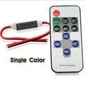 RF Controller dimmer para led regulable Iluminación Interruptor de Control Remoto Inalámbrico Dimmer DC12-24V 11 Teclas para 5050 3528 Tira Llevada