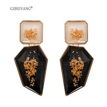 GZBEIAYNG Exaggerated Earrings 2019 Fashion Jewelry Acrylic for Women Alloy Geometric Irregular Luxury Gifts