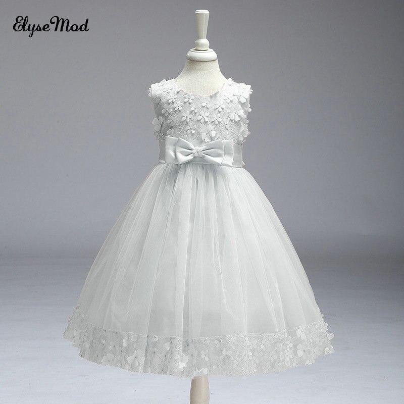Top Sale Tank Sleeveless Ballgown Primera Comunion Para Ninas 2018 Flower Girls Dresses For Wedding Party