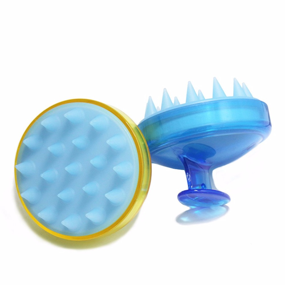 Soft Silicone Oval Shampoo Scalp Head Hair Massage Massager Brush Comb How Sale