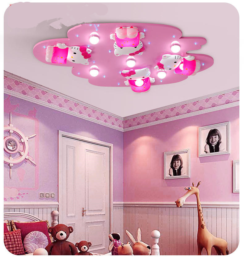 Hello Kitty Lovely Girls Bedroom Ceiling Lights Pink Color Cute Girl Room  Decoration Princess LED Ceiling Light Surface Mount In Ceiling Lights From  Lights ...