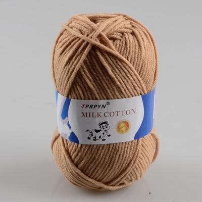 TPRPYN 1 шт. = 50 г пряжа для вязания крючком из молочного хлопка, мягкая теплая Детская Пряжа для ручного вязания - Цвет: 91 xiao xiong