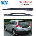Oge 16 ''rear escovas e lâminas de braço para volvo c30 2011 2012 2013 windscreen windshield borracha de silicone de vidro acessórios do carro