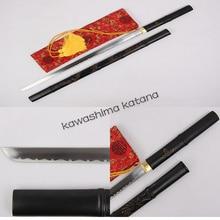 Handmade Samurai Straight Sword Katana Full Tang Sharp Edge Carbon Steel Bamboo Dragon Sword