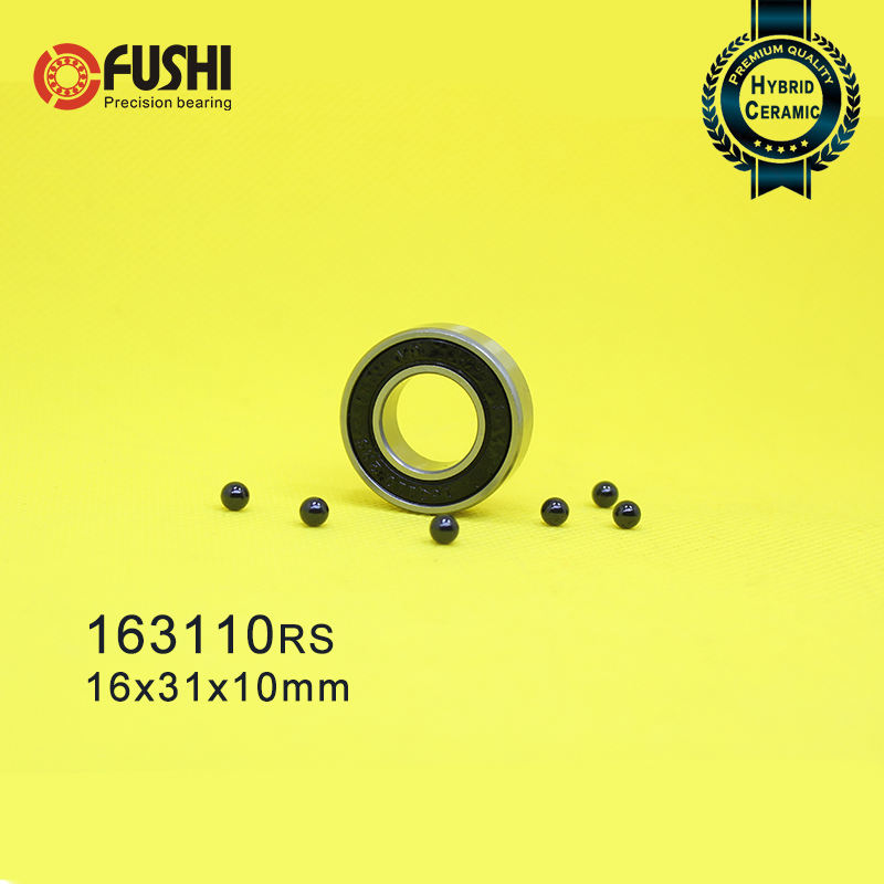 163110 Hybrid Ceramic Bearing 16x31x10 mm ABEC-1 (1 PC) Bicycle Bottom Brackets & Spares 163110RS Si3N4 Ball Bearings 163110-2RS163110 Hybrid Ceramic Bearing 16x31x10 mm ABEC-1 (1 PC) Bicycle Bottom Brackets & Spares 163110RS Si3N4 Ball Bearings 163110-2RS