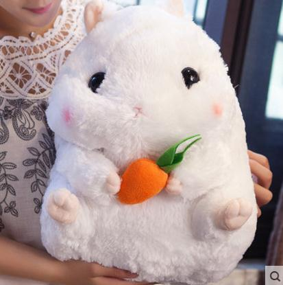 Japanese fat hamster Pillow Hamster dolls Ragdoll Cute super Meng Plush toy doll Girls Plush dolls dj hamster w headphone style electronic plush talking moving toy blue brown white
