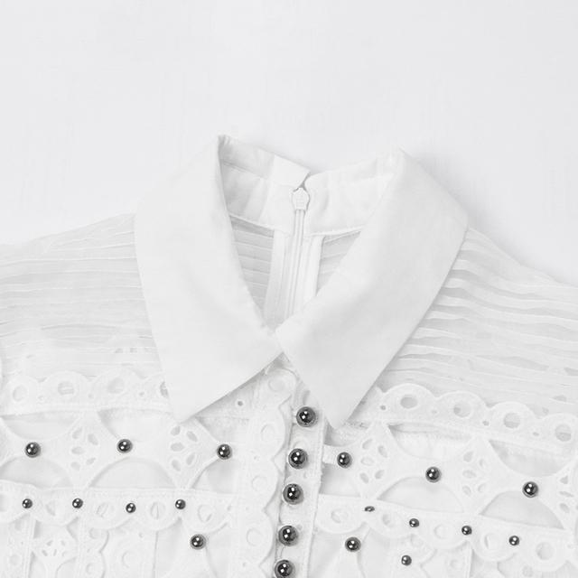 TWOTWINSTYLE 2019 Hollow Out kombinezony dla kobiet frezowanie bez rękawów wysoka talia szerokie spodnie nogi kobiet lato koreański mody nowa
