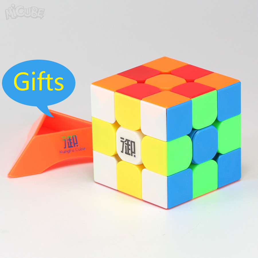 Micube Longyuan 3x3x3 Yumo Magic Cubes Speed Puzzle Stickerless 56mm Competition Cubes Toys For Kids Cubo 3x3 Gifts Stand