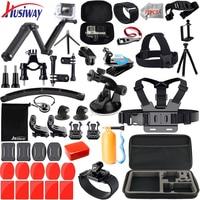 Husiway for Gopro Accessories Kit for Go pro Hero 7 5 6 4 3 Mount for SJ5000 Eken / SOOCOO / Xiaomi Yi 4k Sports Camera Set 13M