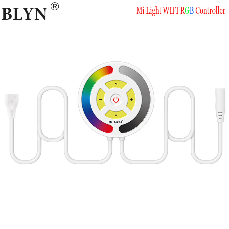 Newest Mi Light WIFI RGB Controller DC12/24V Smart Light Controller For 5050 3528 RGB LED Strip Touch Panel Dimmer CCT Control гирлянда шнур мигающая д улицы 8м 144led мульти