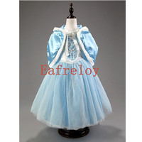 Girls Dress New Spring Summer Princess Dress Frozen Dress Skirt Dress Drag The Dress Party Dresses