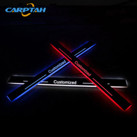 CARPTAH Trim Pedal Car Exterior Parts LED Door Sill Scuff Plate Pathway Dynamic Streamer light For Toyota C HR CHR 2016 2018