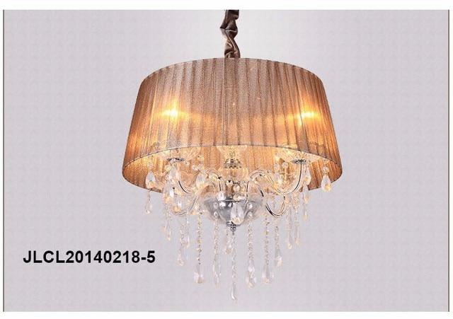 AC110V 240V Hohe Qualität Weiß Stoff Schatten Moderne K9 Kristall  Kronleuchter 50 Cm E14 Lüster