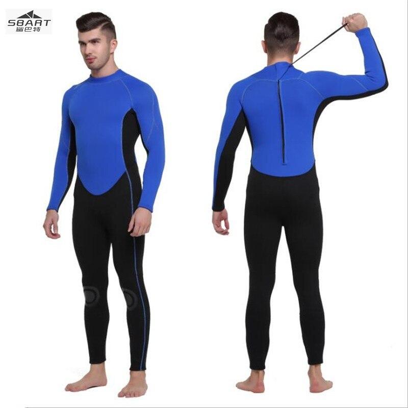 Sbart 1051 combinaison de plongée 3 MM épaississement maillot de bain de natation d'hiver pour hommes, costume de plongée pour hommes, méduse à manches longues