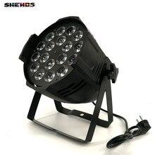 4 UNIDS aleación De Aluminio LED Par 18×18 W RGBWA + UV 6in1 LED Puede Par llevó el proyector iluminación de dj del proyector de iluminación de la etapa de lavado
