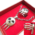 Anime Soul Eater Death The Kid Ring Inspired Pendant Necklace + Ring Set Cosplay