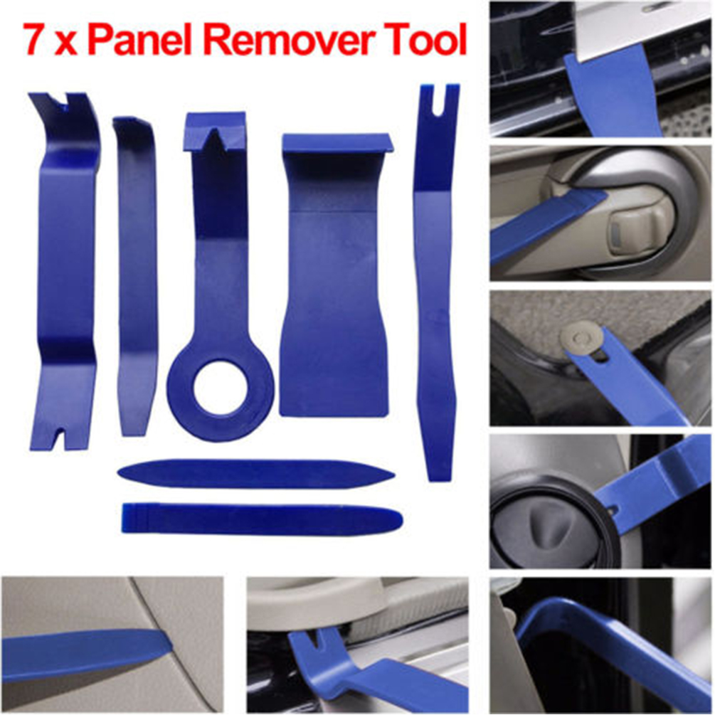 CARGOOL 7pcs Car Trim Removal Tool Kit Multi-functional Car Interior Removal Disassembly Tool Set Auto Door Panel Remover Blue handy wristwatch screen glass removal tool blue silver