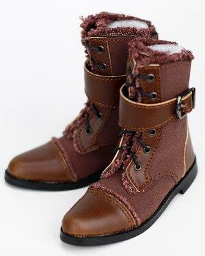 70 CM 1/3 erkek çocuk SD AOD KÖPEK BJD MSD Dollfie Sentetik Deri PU botları Ayakkabı siyah kahverengi ayakkabı YG367