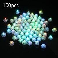 100 sztuk Mini LED Żarówki wielobarwne Balon Balon Światła LED Światła Do Papieru Latarnia Wesele Wystrój