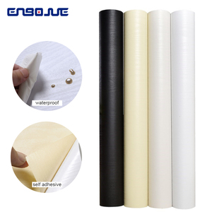 Image 3 - 0.4x5 m ויניל עץ עצמי דבק טפט PVC עמיד למים ארון טלוויזיה בסלון בית תפאורה ריהוט ארון דלת קיר מדבקות