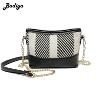 Women's Soft PU Leather Straw Woven Colorful Shoulder Bag Fashion Trendy Crossbody Bags Summer Beach Bag for Ladies