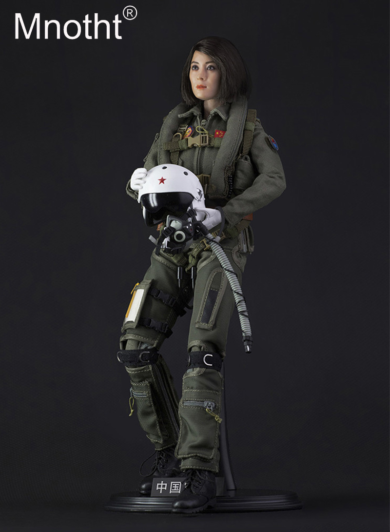 1/6 Scale Chinese Female Pilot Action Figure Box Set Model Toy FS-73006 With Head/Body Life jacket/leather shoes/glove/Helmet free shiping by spsr 1 set of chinese edition original octonauts oktopod splelset figure toy with original box child toys