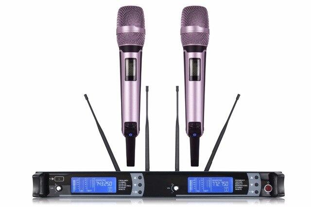 NTBD Thuis KTV Party Stage Performance Spreken Rap Anker M9100 Professionele Dual Draadloze Microfoon 2 Kanaal 2 handheld Dynamische - 2