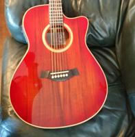free shipping Byron koa wood guitar gear single cut AAA koa acoustic electric guitar presys 301 nice folk guitar