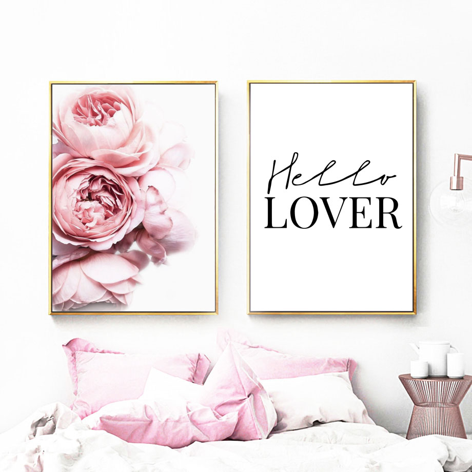 Flower Print Rose Print Wall Print 3x A4 Roses Poster Wall Art Home Decor