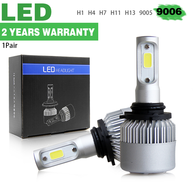 CO LIGHT 1 Set 72w Hb4 Led Bulb Single Beam 8000Lm 9006 Auto Lamp For Bmw Nissan Hyundai Kia Lada 12V 24V Driving Light