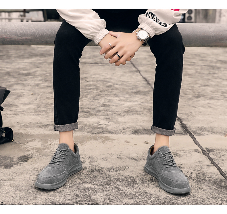 Genuine Leather unisex Suede sneakers 6