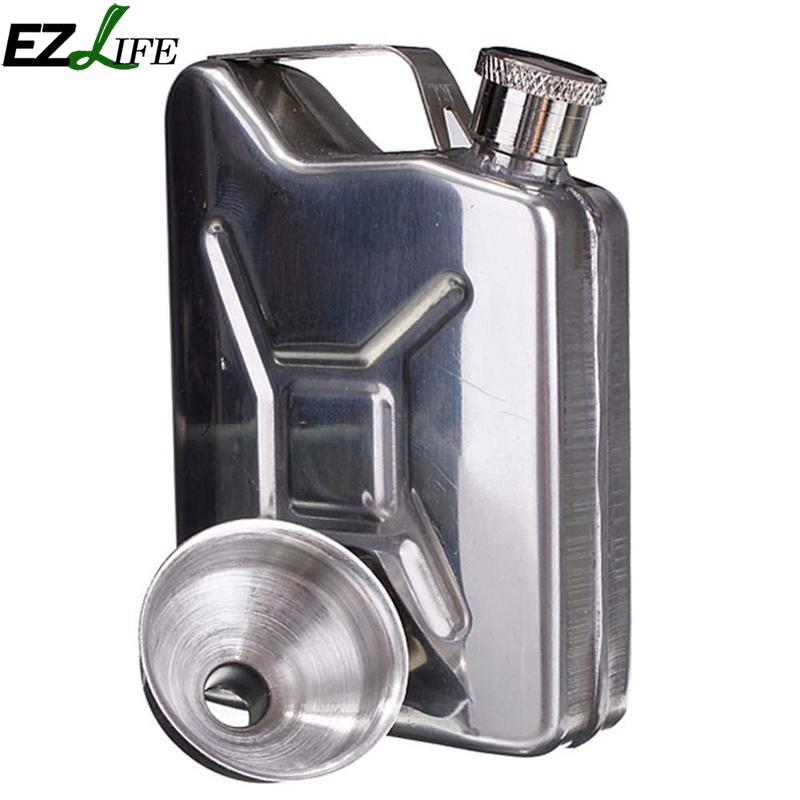 5oz Funnel Liquor Stainless Steel Funnel Drink Bottle Hip Flask Liquor Whisky Bottle Drinkware Alcohol Cap Party Bar Crm2622