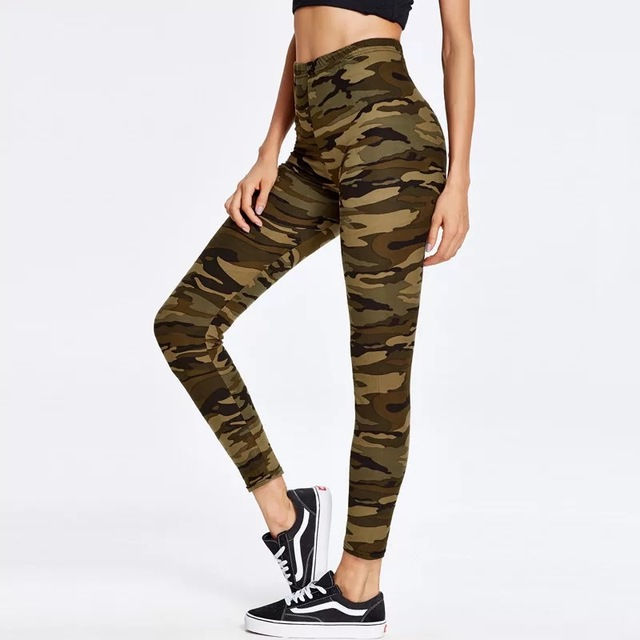 Fashion Women's Leggings Sexy Casual camouflage Leg Warmer Fit Moost Sizes Leggins Pants Trousers Woman's Leggings 3