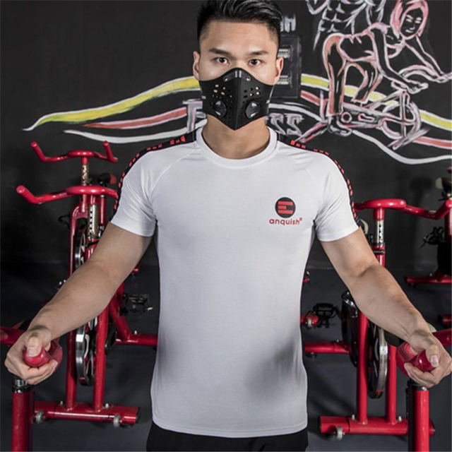 Summer 2019 New Fashion casual O Neck Short Sleeve Tees Men Gyms Fitness Jogger Cotton Tights Patchwork Tops Clothing