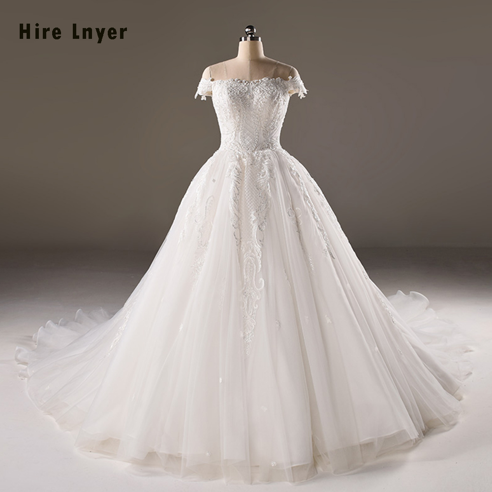 Cheap Wedding Dresses To Rent: HIRE LNYER Vestidos Novia Appliques Beading Pearls Bridal