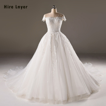 HIRE LNYER Vestidos Novia Appliques Wedding Dresses