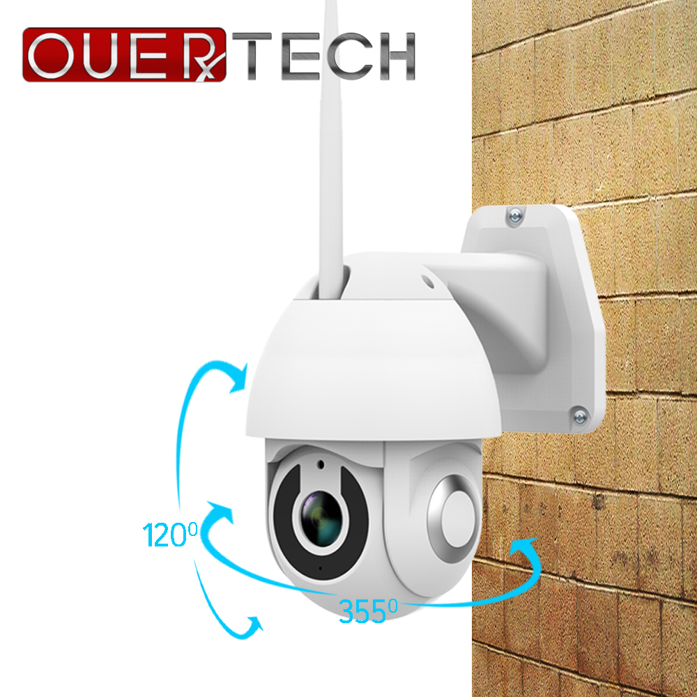 OUERTECH PTZ Outdoor IP security Camera WiFi 1080P Motion Detect Night vision Security Camera with TF Card Slot CCTV Camera V380 image