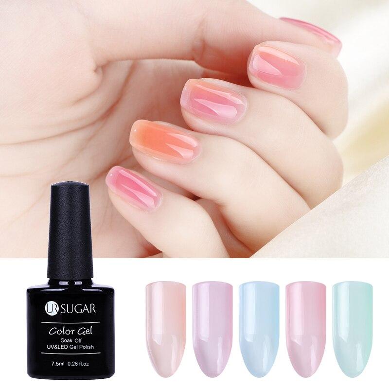 UR SUGAR 7.5ml Jelly Nude Pink Gel Lacquer UV Led Gel