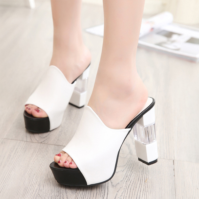 Fashion Women Pumps Platform High Heels Sexy 2019 Summer Peep Toe Shoes Red Square Heel Shoes Party Women Heel Shoes PumpsFashion Women Pumps Platform High Heels Sexy 2019 Summer Peep Toe Shoes Red Square Heel Shoes Party Women Heel Shoes Pumps