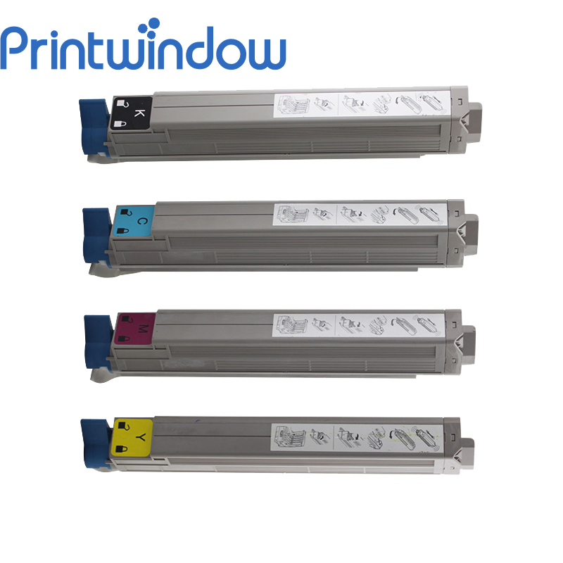 Printwindow Compatible Toner Cartridge for OKI C910 4 pack high quality toner cartridge oki mc860 mc861 c860 c861 color printer full compatible 44059212 44059211 44059210 44059209