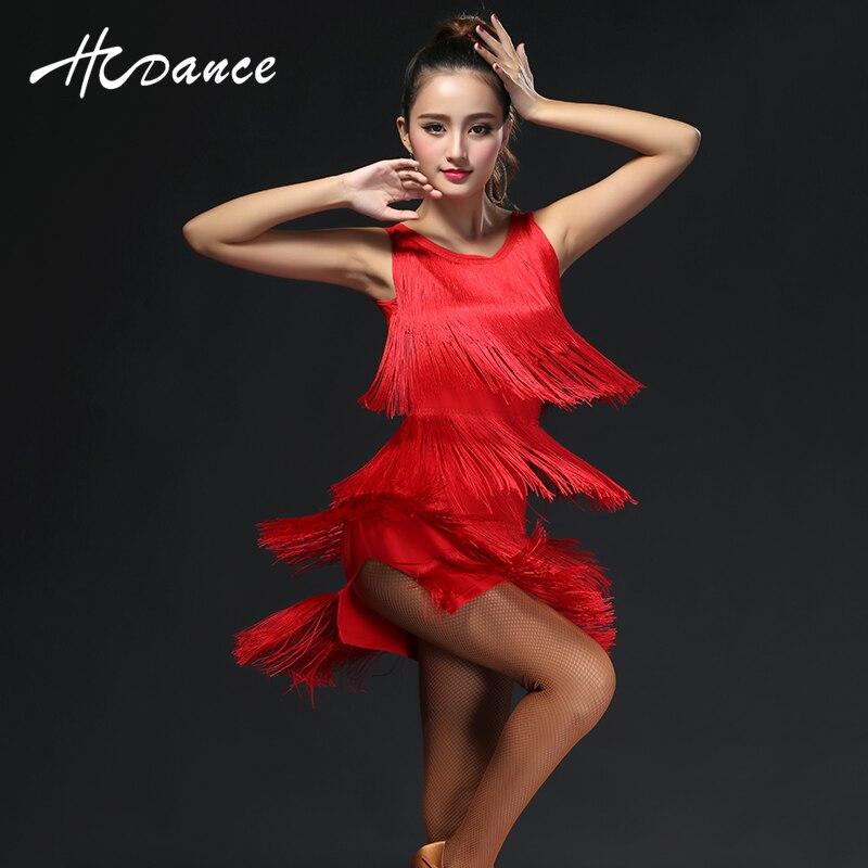 2016 New Latin Polyester Silk Dance Vestido Women Top Salsa Tango Rumba Flamengo Ballroom Dress Skirt Modern Costumes A322