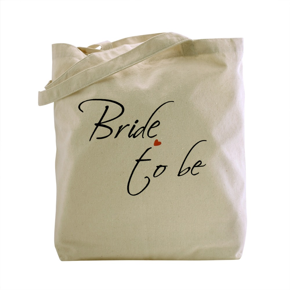 Women fashion Ivory Bride to Be Tote Bag Natural Canvas 100% Cotton shopping travel cloth beach storage shoulder bag заколка to be bride