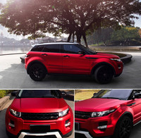 Red Premium car Satin Matte Chrome Plating Vinyl Wrap Sticker sheet Air Release 20 x 60(50cm x 152cm)