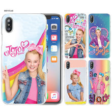Transparent Phone Shell Cases Cover Clear Hard PC Plastic for iPhone XS Max XR 7 8 6 6s Plus X 5 5s SE 5C 4 4S Jojo Siwa coque(China)