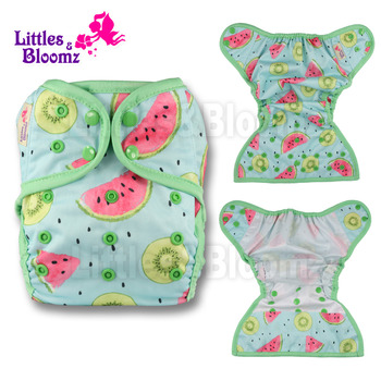 [Littles&Bloomz] Baby Diapers One Size Reusable Cloth Colour Nappy Waterproof Cover Wrap To Use With Flat or Fitted Diaper - discount item  21% OFF Diapering & Toilet Training
