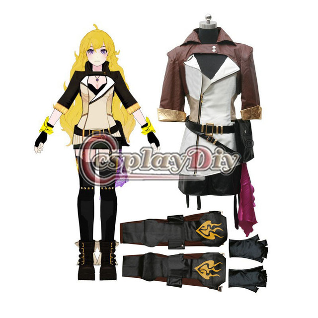 Cosplaydiy RWBY Season 2 Yang Xiao Long Cosplay Costume Dress For Adult Women Halloween Carnival Party Custom Made D0415