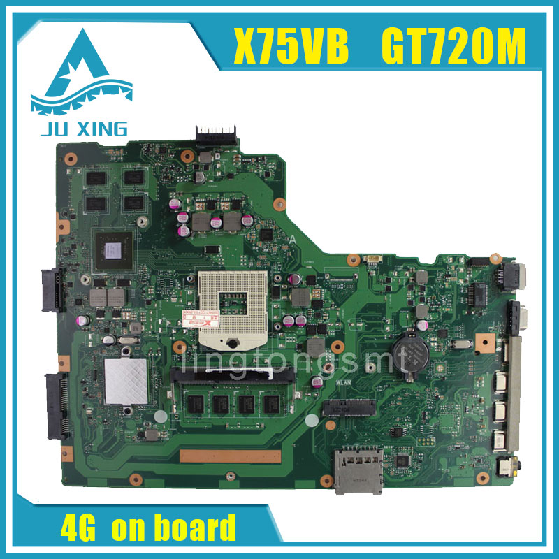 for asus x75vc motherboard x75vb rev2 0 mainboard graphic gt720 4g memory on board 100 X75V X75VB motherboard X75VC REV2.0 Mainboard Graphic GT720 4G Memory On Board 100% test