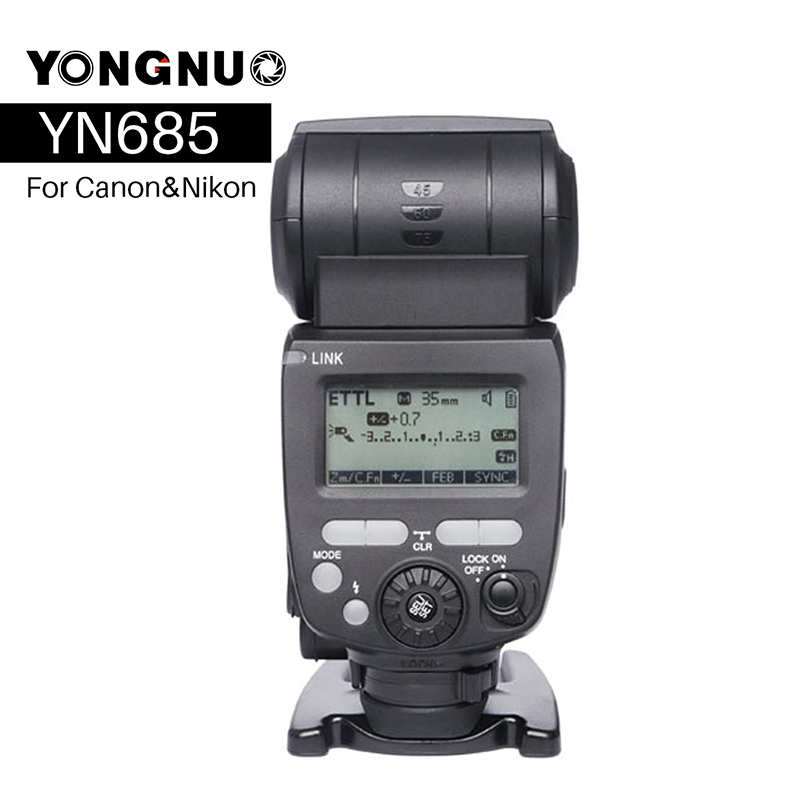 купить YONGNUO YN685 YN-685N Wireless HSS TTL Flash Speedlite for Canon Nikon compatible Flash Trigger YN622C-TX/YN622N-TX Kit Set по цене 7508.28 рублей