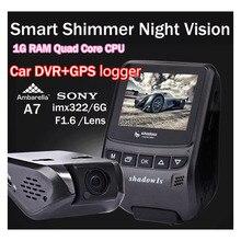 Ambarella A7 мини Автомобильный ВИДЕОРЕГИСТРАТОР Камеры Full HD 1080 P Sony imx322 Объектив автомобиля Видеорегистратор даш cam GPS Logger Четырехъядерный ПРОЦЕССОР 1 Г RAM
